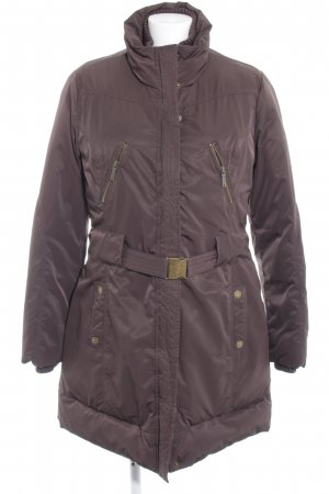 Pepe Jeans Down Coat dark brown street-fashion look
