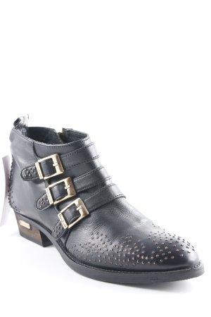 Pepe Jeans Desert Boots schwarz Biker-Look