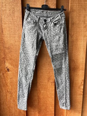 Pepe Jeans FELINE skinny fit Leopardenmuster grau 27/30