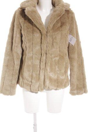 Pepe Jeans Fur Jacket light brown casual look