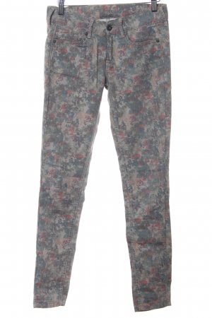 Pepe Jeans Five-Pocket-Hose Blumenmuster Casual-Look