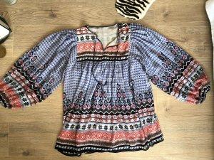 PEPE JEANS Folklore Bluse * Fallender Stoff (wie schwere Seide) Wie neu