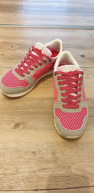 Pepe Jeans, Gable Sneaker low, weiß pink grau