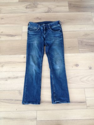 Pepe Jeans Jeans taille basse bleu coton