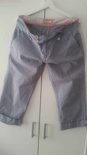 Pepe Jeans Pantalon 3/4 blanc-bleu azur