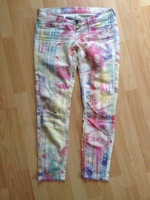 Pepe Jeans, Graffiti-Print, slim-fit, bunt, Gr 27-28