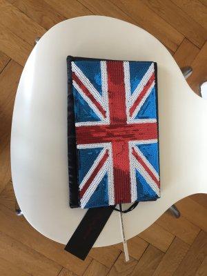 Pepe Jeans, grosse Clutch, Union Jack-Paillettenmuster
