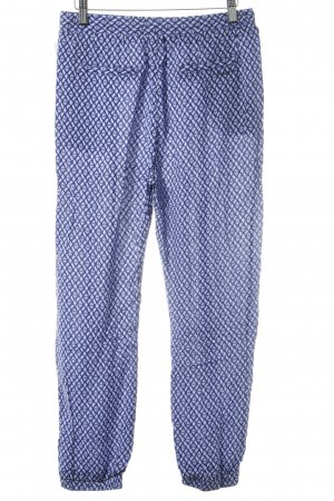 Pepe Jeans Harem Pants blue-white abstract print casual look