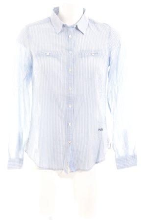 Pepe Jeans Hemd-Bluse himmelblau-weiß Streifenmuster Casual-Look