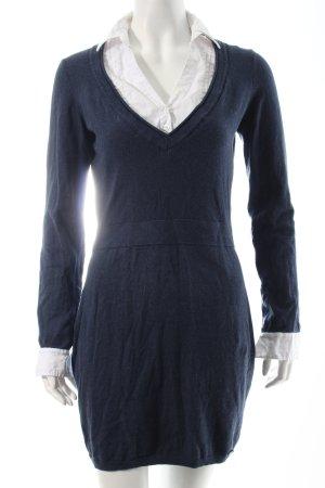 Pepe Jeans Hemd-Bluse weiß-dunkelblau Business-Look