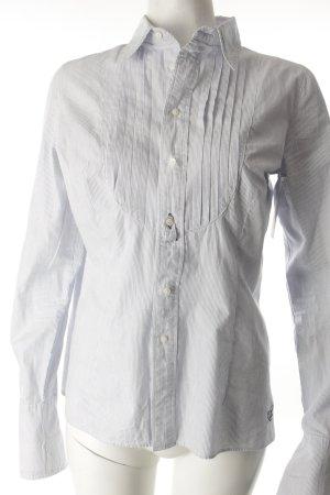 Pepe Jeans Hemd-Bluse weiß-hellblau Streifenmuster Casual-Look