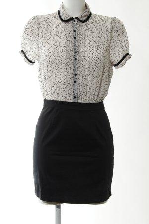 Pepe Jeans Hemdblusenkleid schwarz-weiß grafisches Muster Elegant
