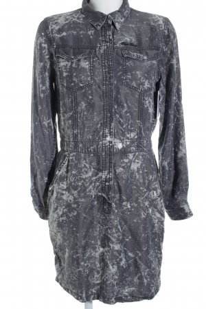 Pepe Jeans Hemdblusenkleid grau-hellgrau Farbtupfermuster Street-Fashion-Look