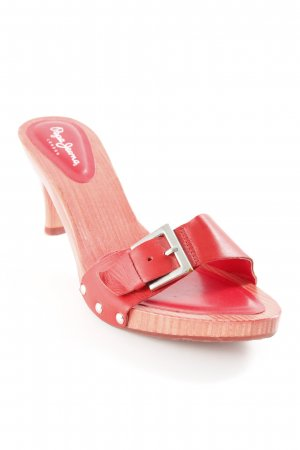 Pepe Jeans High Heel Sandal red simple style