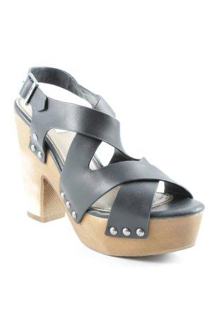 Pepe Jeans High Heel Sandaletten schwarz Street-Fashion-Look