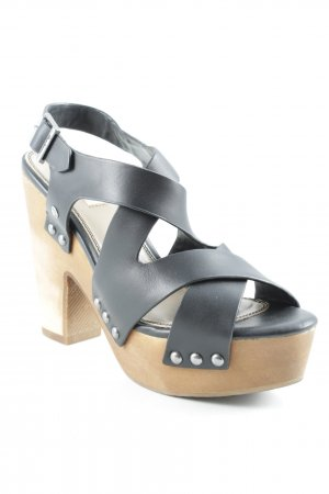 Pepe Jeans High Heel Sandaletten schwarz Street-Fashion-Look