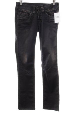 Pepe Jeans Hüfthose anthrazit Washed-Optik