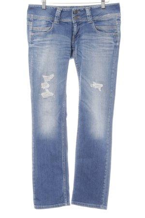 Pepe Jeans Pantalon taille basse bleuet style décontracté