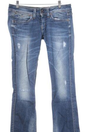 Pepe Jeans Hüftjeans stahlblau-blassblau Farbverlauf Casual-Look