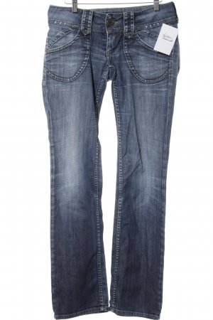 Pepe Jeans Low Rise jeans staalblauw-korenblauw casual uitstraling