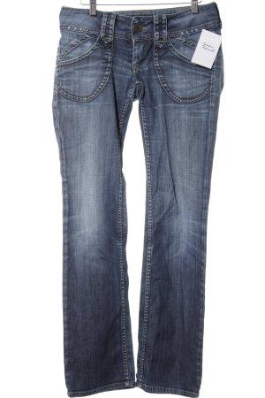 Pepe Jeans Hüftjeans stahlblau-kornblumenblau Casual-Look