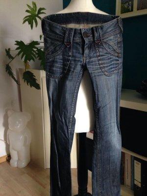 Pepe Jeans in dunkelblau weites Bein