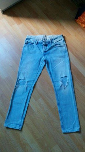 Pepe Jeans Jaimee Boyfriend Grunge Hellblau w27 l29