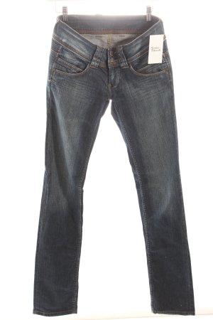 Pepe Jeans Jeans stahlblau-dunkelblau Used-Optik