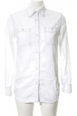 Pepe Jeans Jeansbluse weiß Business-Look