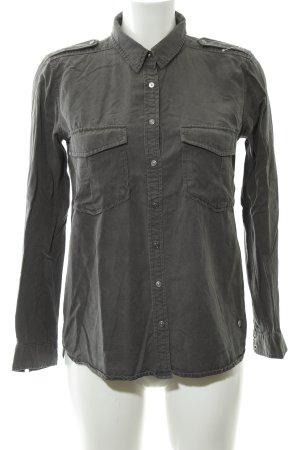 Pepe Jeans Jeansbluse graubraun-grüngrau Casual-Look