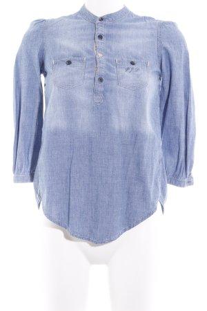 Pepe Jeans Blouse en jean bleuet-crème style décontracté