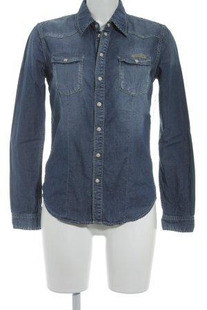 Pepe Jeans Jeanshemd blau-wollweiß Street-Fashion-Look