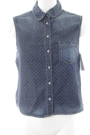 Pepe Jeans Jeanshemd dunkelblau-weiß Punktemuster Casual-Look