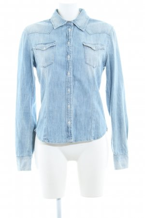 Pepe Jeans Denim Shirt azure flecked casual look