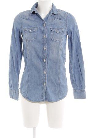 Pepe Jeans Jeanshemd kornblumenblau Farbverlauf Casual-Look