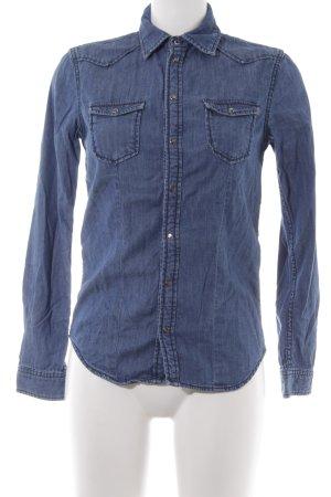 Pepe Jeans Spijkershirt staalblauw Jaren 90 stijl