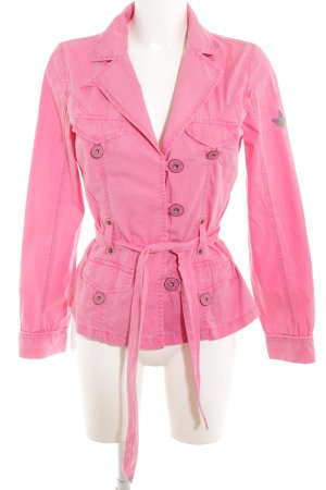 Pepe Jeans Jeansjacke rosa Casual-Look