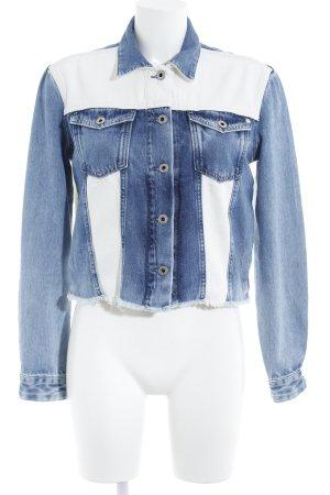 Pepe Jeans Jeansjacke weiß-blau Casual-Look