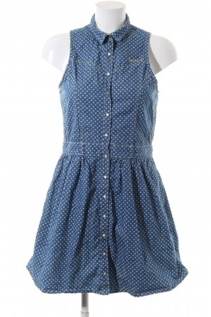 Pepe Jeans Denim Dress blue-bronze-colored spot pattern casual look