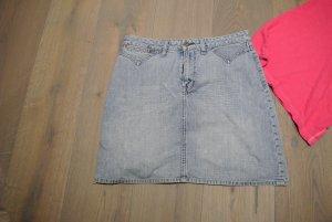 Pepe Jeans Jeansrock S/M 36/38 knielanger Skater Hüftrock