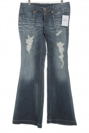 Pepe Jeans Jeansschlaghose blau-wollweiß Casual-Look