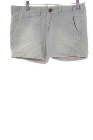 Pepe Jeans Pantalón corto de tela vaquera gris pizarra-crema estampado a rayas