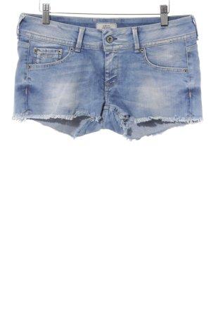 Pepe Jeans Jeansshorts kornblumenblau-weiß Farbverlauf Washed-Optik