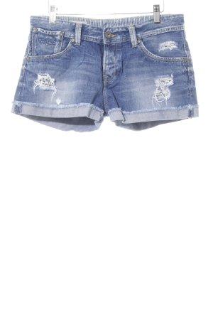 Pepe Jeans Jeansshorts stahlblau-himmelblau Urban-Look