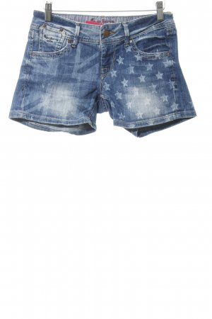 Pepe Jeans Pantalón corto de tela vaquera azul acero Patrón de estrellas
