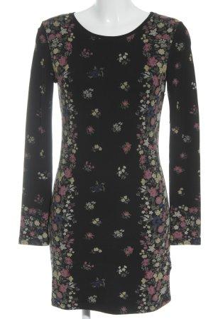 Pepe Jeans Jerseykleid violett-dunkelgrün Blumenmuster Country-Look