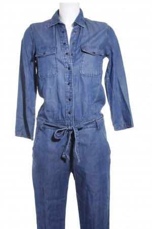 Pepe Jeans Jumpsuit blau Washed-Optik