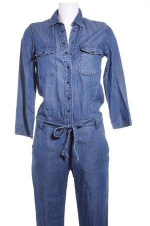Pepe Jeans Jumpsuit blau Washed-Optik