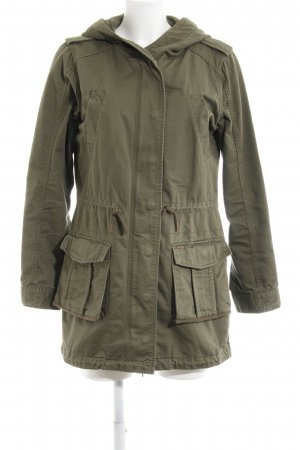 Pepe Jeans Manteau à capuche kaki style décontracté