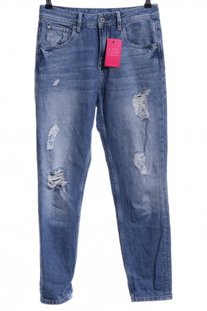 Pepe Jeans Wortel jeans blauw casual uitstraling